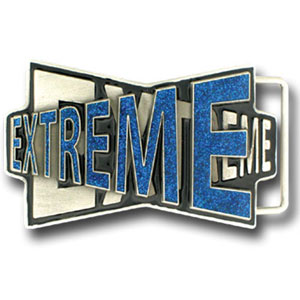 "Graffiti Expressions Belt Buckle - Extreme - Are you Extreme? You can be with our Graffiti Expressions buckle, a Siskiyou Gifts exclusive. Enameled in vibrant color with the spade highlighted, buckle measures 3 1/8"" x 2 1/2""."