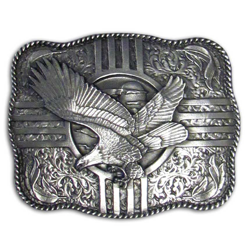 Eagle Buckle - Finely sculpted and intricately designed belt buckle. Our unique designs often become collector's items. Check out our entire line of  belt buckles.