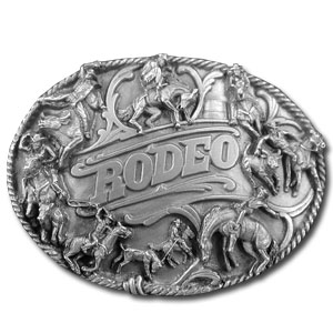 Belt Buckle - Rodeo Rope Border - Finely sculpted and intricately designed rodeo belt buckle. Our unique designs often become collector's items. Check out our entire line of  belt buckles.