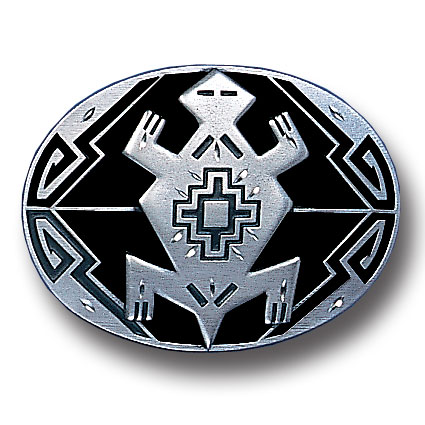 Belt Buckle - Indian Turtle (Diamond Cut) - This finely sculpted belt buckle contains exceptional 3D detailing and diamond cut accents. Siskiyou's unique buckle designs often become collector's items and are unequaled with the best craftsmanship.