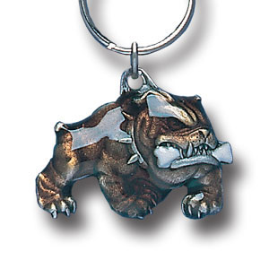 Key Ring - Bulldog With A Bone - Scultped and hand enameled key ring featuring a Bulldog With A Bone emblem.