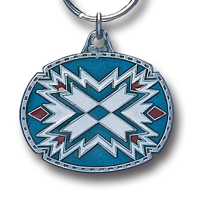 Key Ring - Southwestern Design - Scultped and hand enameled key ring featuring a Southwestern Design emblem.