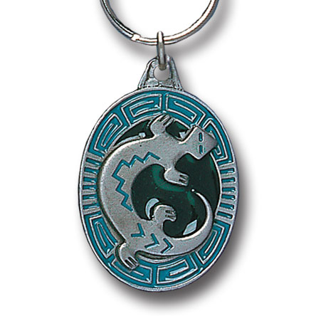Key Ring - Indian Lizard - Scultped and hand enameled key ring featuring a Indian Lizard emblem.