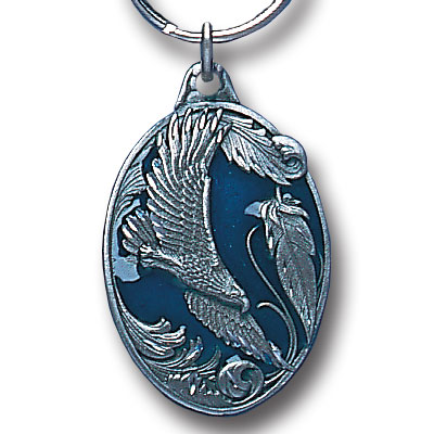 Key Ring - Scrolled Eagle - Scultped and hand enameled key ring featuring a Scrolled Eagle emblem.