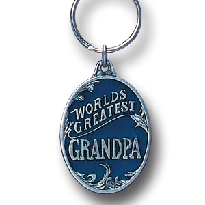 Key Ring - World's Greatest Grandpa - Scultped and hand enameled key ring featuring a World's Greatest Grandpa emblem.