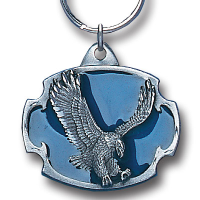 Key Ring - Eagle - Scultped and hand enameled key ring featuring a Eagle emblem.