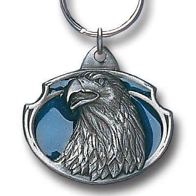 Key Ring - Eagle Head - Scultped and hand enameled key ring featuring a Eagle Head emblem.