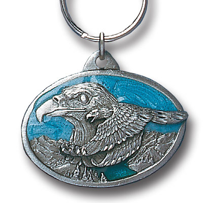 Key Ring - Double Eagle - Scultped and hand enameled key ring featuring a Double Eagle emblem.