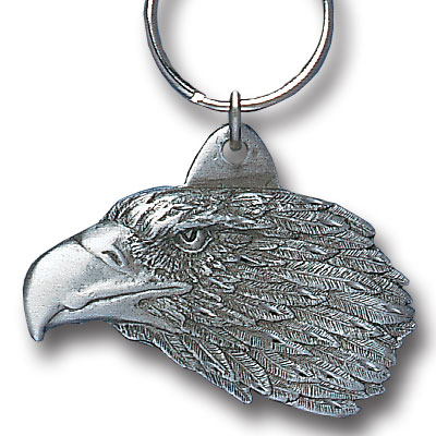 Key Ring - Free Form Eagle - Scultped and hand enameled key ring featuring a Free Form Eagle emblem.