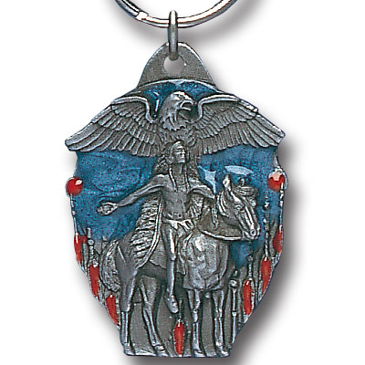 Key Ring - Eagle Spirit - Scultped and hand enameled key ring featuring a Eagle Spirit emblem.