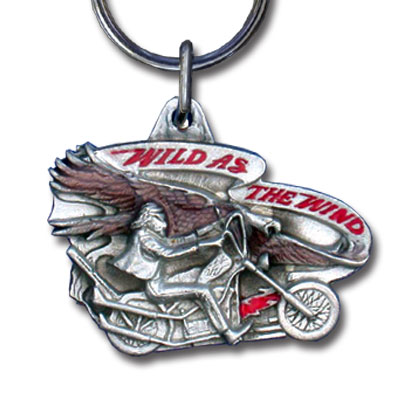 Key Ring - Wild as the Wind - Scultped and hand enameled key ring featuring a Wild as the Wind emblem.