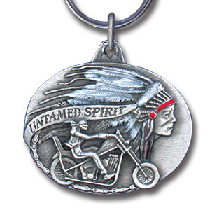 Key Ring - Untamed Spirit - Scultped and hand enameled key ring featuring a Untamed Spirit emblem.