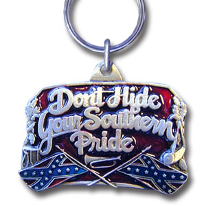 Key Ring - Southern Pride - Scultped and hand enameled key ring featuring a Southern Pride emblem.