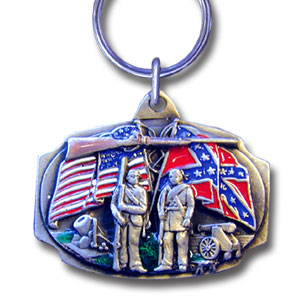 Key Ring - Flags - Scultped and hand enameled key ring featuring a Flags emblem.