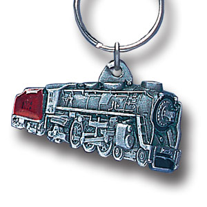 Key Ring - Locomotive Train  - Scultped and hand enameled key ring featuring a Locomotive Train emblem.