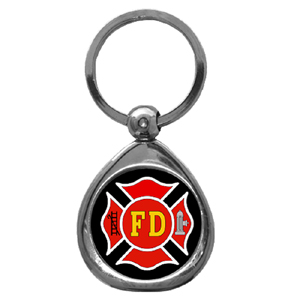 Firefighter Chrome Key Chain - Firefighter Chrome Key Chain