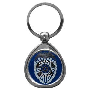 Police Chrome Key Chain - Police Chrome Key Chain