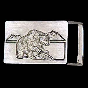 "Belt Buckle - Bear (1 1/4"") - This finely sculpted and enameled belt buckle contains exceptional 3D detailing. Siskiyou's unique buckle designs often become collector's items and are unequaled with the best craftsmanship.  The smaller size is perfect for thinner belts."