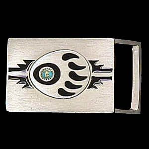 "Belt Buckle - Bear Claw & Stone (1 1/4"") - This finely sculpted and enameled belt buckle contains exceptional 3D detailing. Siskiyou's unique buckle designs often become collector's items and are unequaled with the best craftsmanship.  The smaller size is perfect for thinner belts."
