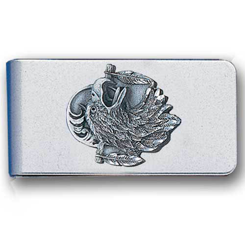 Sculpted Money clip - Eagle Head - Stainless steel money clip with a detailed emblem featuring a Eagle Head.