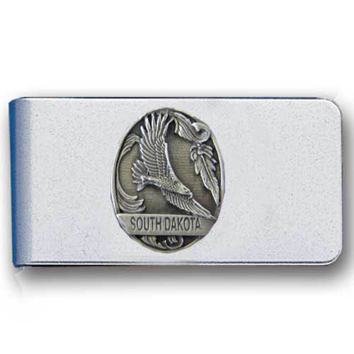 Southwest Eagle Money Clip - Stainless steel money clip featuring a detailed eagle emblem with Southwestern accents.