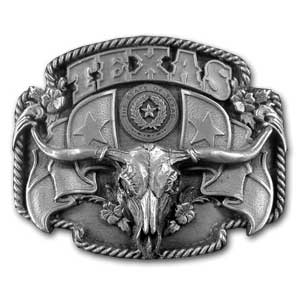Belt Buckle - Texas Longhorn - Finely sculpted and intricately designed belt buckle. Our unique designs often become collector's items. Check out our entire line of  belt buckles.