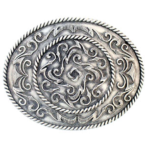 Oversized Western Scroll Belt Buckle - Our largest Western scroll buckle makes a beautiful and bold fashion statement. Sculpted and available enameled by adding E to the end of the item number. Check out our entire line of  belt buckles!