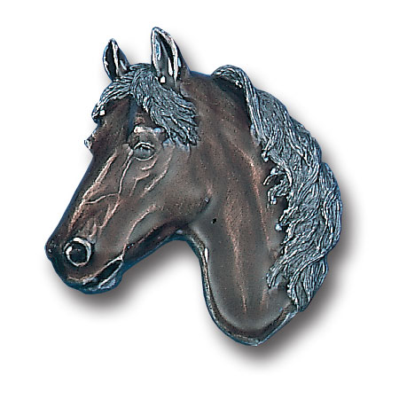 Belt Buckle - Free Form Horse Head - This finely sculpted and hand enameled belt buckle contains exceptional 3D detailing. Siskiyou's unique buckle designs often become collector's items and are unequaled with the best craftsmanship.