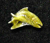 Pin - Trout - Our fully cast and enameled trout pin features exceptional detail with a hand enameled finish.