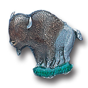 Pin - Buffalo - Our fully cast and enameled buffalo pin features exceptional detail with a hand enameled finish.