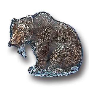 Pin - Bear - Our fully cast and enameled bear pin features exceptional detail with a hand enameled finish.