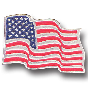 Pin - American Flag - Our fully cast and enameled American Flag pin features exceptional detail with a hand enameled finish.