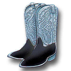 Pin - Cowboy Boots - Our fully cast and enameled cowboy boots pin features exceptional detail with a hand enameled finish.