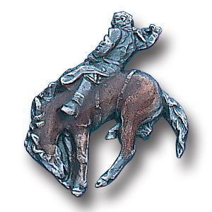 Pin - Bronco Rider - Our fully cast and enameled bronco rider pin features exceptional detail with a hand enameled finish.