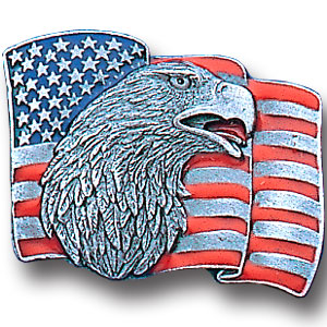 Pin - Flag and Eagle - Our fully cast and enameled flag & eagle pin features exceptional detail with a hand enameled finish.