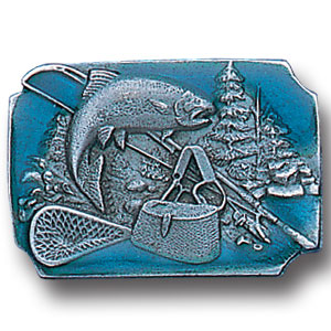 Pin - Fishing - Our fully cast and enameled fishing pin features exceptional detail with a hand enameled finish.