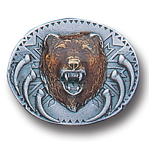 Pin - Grizzly Head - Our fully cast and enameled grizzly head pin features exceptional detail with a hand enameled finish.