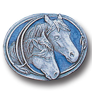 Pin - Two Horses - Our fully cast and enameled two horses pin features exceptional detail with a hand enameled finish.