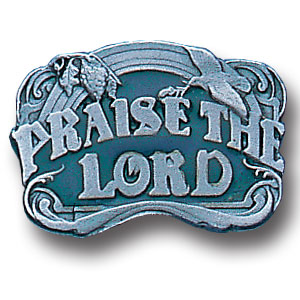 Pin - Praise The Lord - Our fully cast and enameled praise the lord pin features exceptional detail with a hand enameled finish.