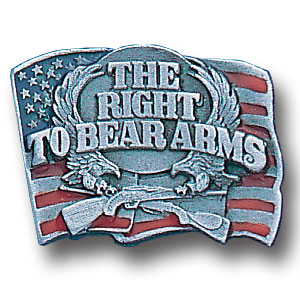 Pin - Right To Bear Arms - Our fully cast and enameled right to bear arms pin features exceptional detail with a hand enameled finish.