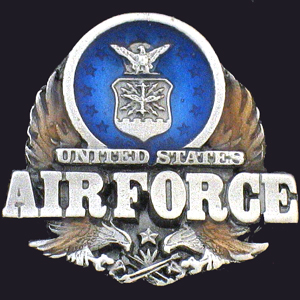 Pin - U.S. Air Force - Our fully cast and enameled Air Force pin features exceptional detail with a hand enameled finish.