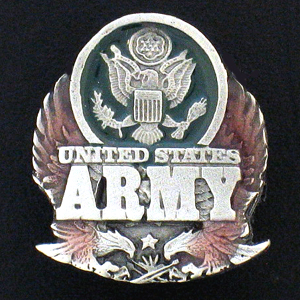 Pin - U.S.  Army - Our fully cast and enameled Army pin features exceptional detail with a hand enameled finish.