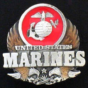 Pin - U.S. Marines - Our fully cast and enameled Marines pin features exceptional detail with a hand enameled finish.