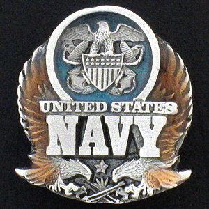 Pin - U.S. Navy - Our fully cast and enameled Navy pin features exceptional detail with a hand enameled finish.