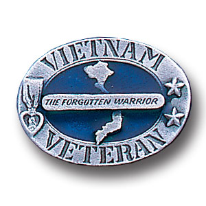 Pin - Vietnam Veteran - Our fully cast and enameled Vietnam Veteran pin features exceptional detail with a hand enameled finish.