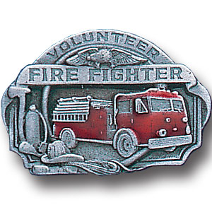 Pin - Volunteer Fire Fighter - Our fully cast and enameled volunteer fire fighter pin features exceptional detail with a hand enameled finish.