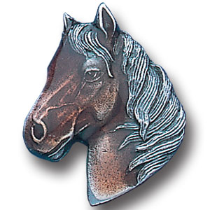 Pin - Horse Head - Our fully cast and enameled horse head pin features exceptional detail with a hand enameled finish.