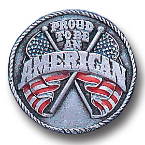 Pin - Proud American - Our fully cast and enameled American pride pin features exceptional detail with a hand enameled finish.