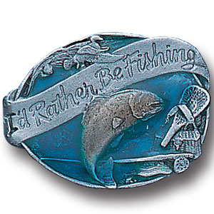 Pin - I'd Rather Be Fishing - Our fully cast and enameled i'd rather be fishing pin features exceptional detail with a hand enameled finish.