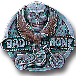 Pin - Bad To The Bone - Our fully cast and enameled bad to the bone pin features exceptional detail with a hand enameled finish.